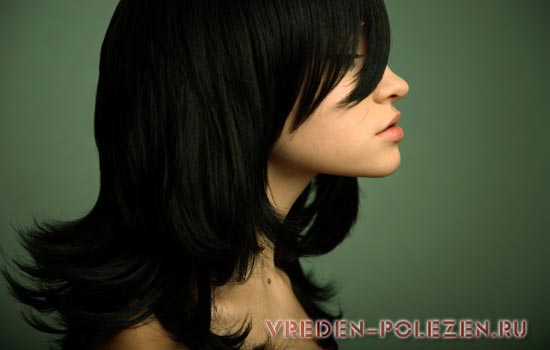 Красить волосы в чёрный цвет сонник