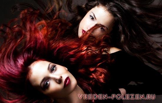 От времени нахождения смеси на волосах зависит будущий цвет