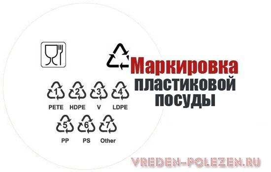 Приобретая пластиковую посуду, обязательно обратите внимание на маркировку