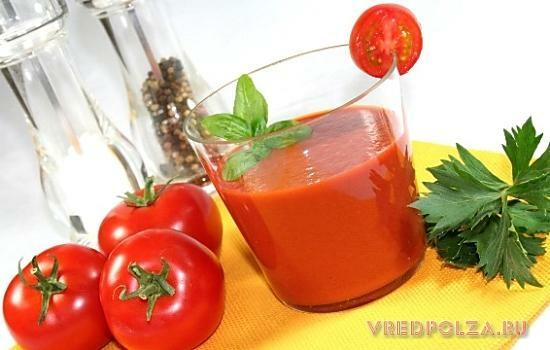 Какая польза от томатного сока