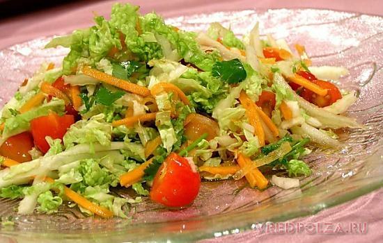 Пекинская капуста прекрасно гармонирует с овощами и придает вкусовую нежность любому блюду