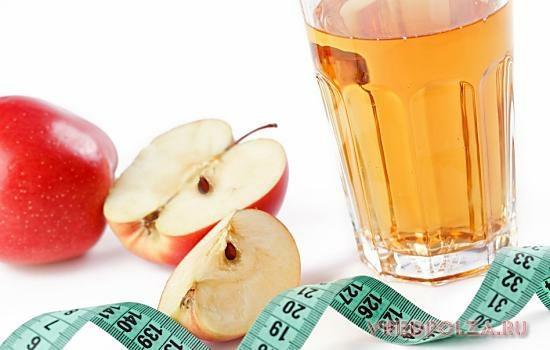 Яблочный уксус помогает быстро избавиться от лишних килограммов