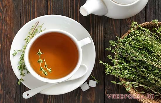 Чай с чабрецом чистит печень, нормализует работу мозга, снимает нервное напряжение