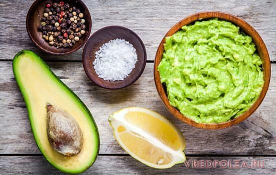 Основные ингредиенты для гуакамоле