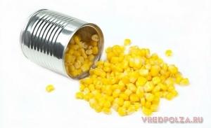 Кукуруза консервированная: польза и вред